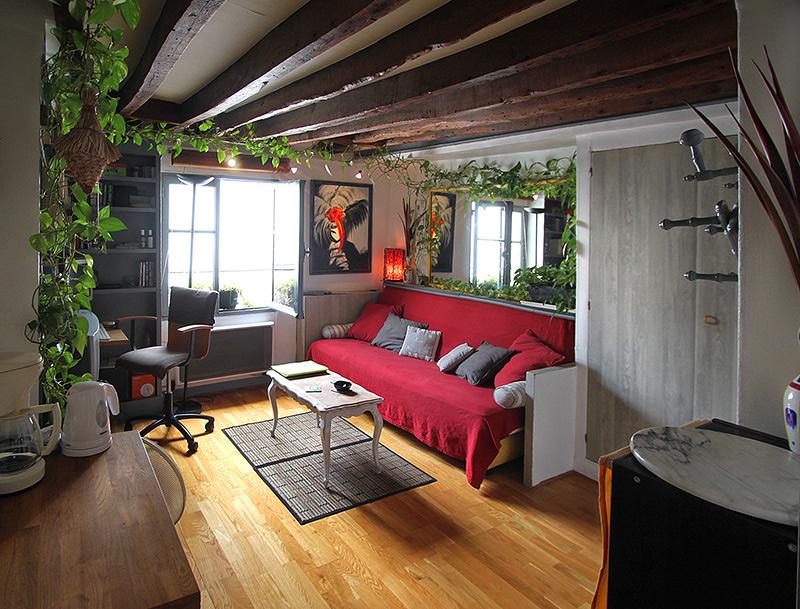 int rieur studio louer paris quartier latin st germain des pr s. Black Bedroom Furniture Sets. Home Design Ideas