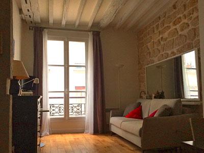 studio louer paris rue monsieur le prince lardennois. Black Bedroom Furniture Sets. Home Design Ideas