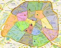 plan de paris avec arrondissement - Photo